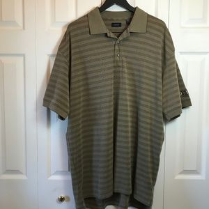 """Izod """"Old Style"""" Embroidery Olive Stripe Polo XL"""